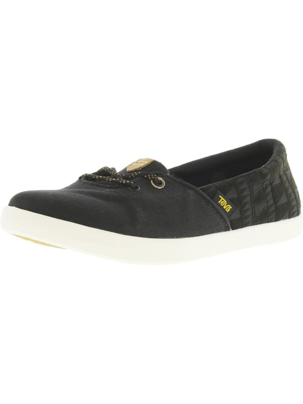 Teva Women's Willow Slip-On Ankle-High Canvas Shoes - Black - Front