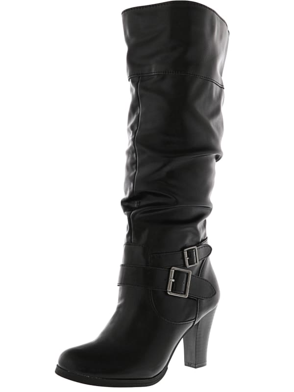 Style And Co Women's Rudyy Knee-High Boot - Black - Front
