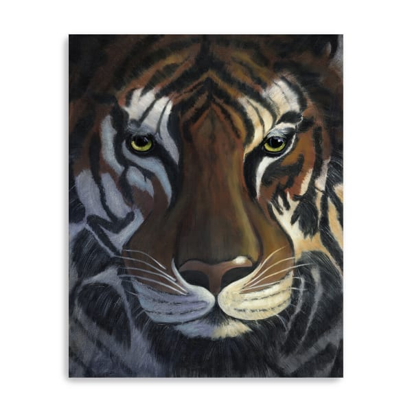 Tiger Stare Canvas Giclee