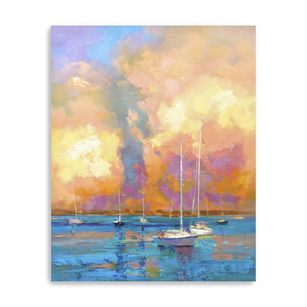 Evening On The Bay Canvas Giclee