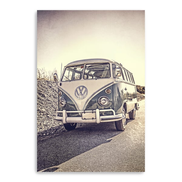 Surfers' Vintage VW Bus Canvas Giclee