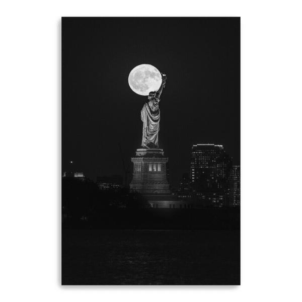 Full Moon New York Canvas Giclee
