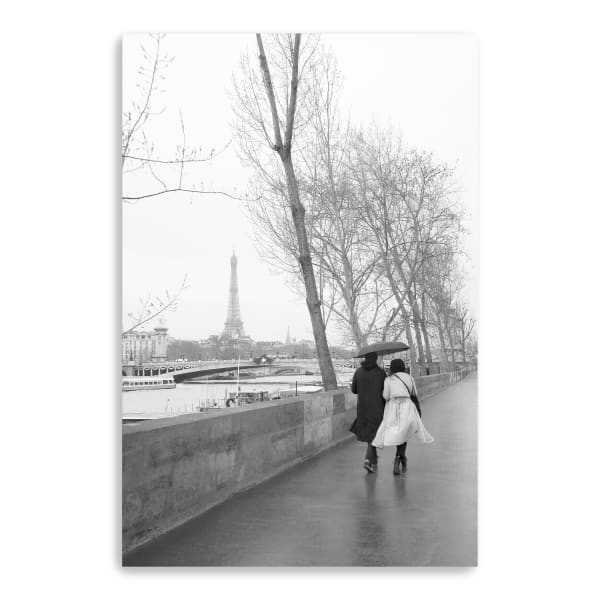Paris In The Rain I Love Canvas Giclee