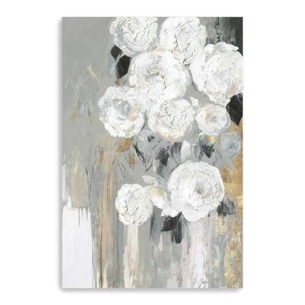 Cascading Gray  Canvas Giclee