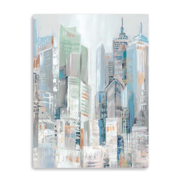 City Fog Canvas Giclee