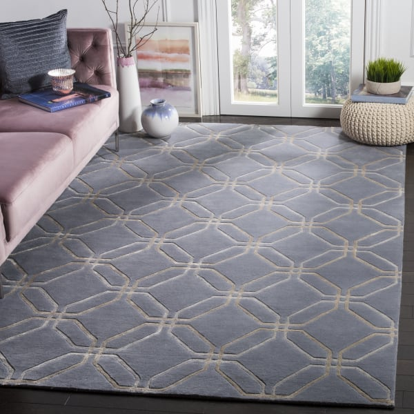 Safavieh Hand Knotted Wool Blue Rug