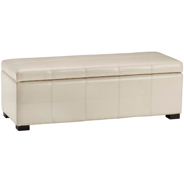 Safavieh Faux Leather Marilyn Storage Bench