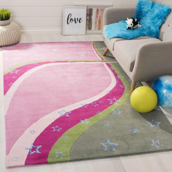 Safavieh Pink & Green Swirl Rug