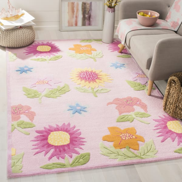 Safavieh Floral Pink Kids Rug