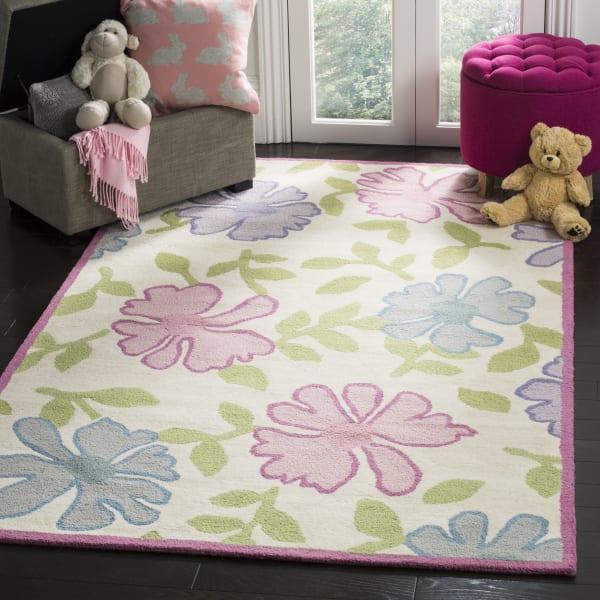 Safavieh Pink & Blue Floral Kids Rug