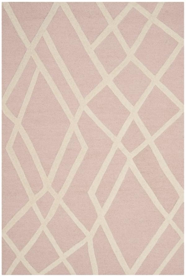 Safavieh Geo Pink & White Rug