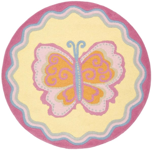 Safavieh Mulitcolor Butterfly Kids Rug