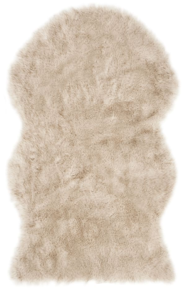 Chloe Tan Faux Sheepskin 3'x5' Rug