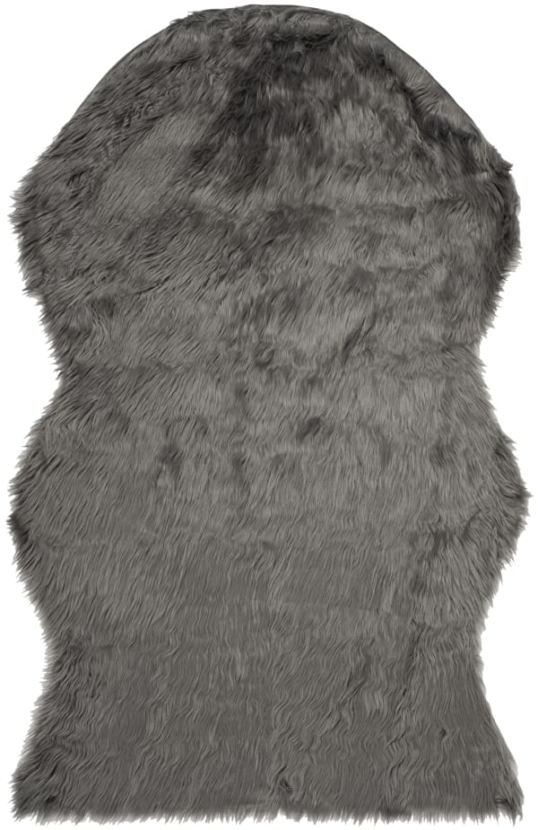 Dylan Gray Faux Sheepskin 3'x5' Rug