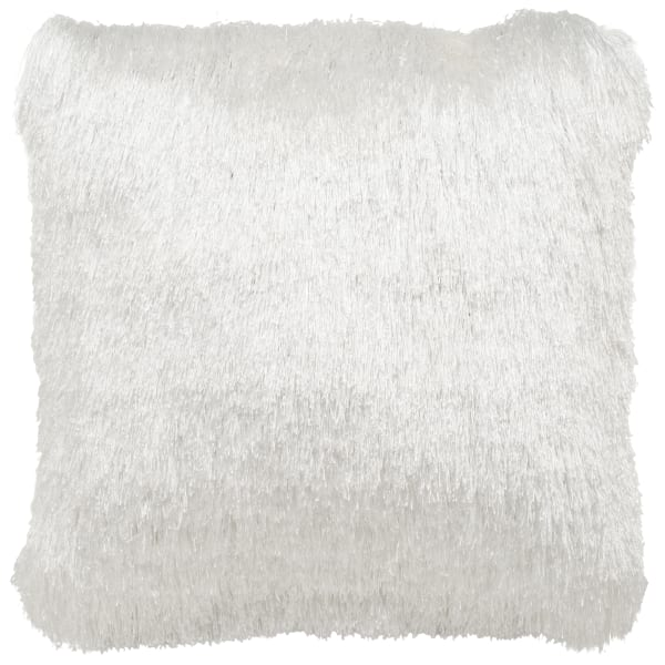 Shag White Pillow Filled Outdoor Pillow