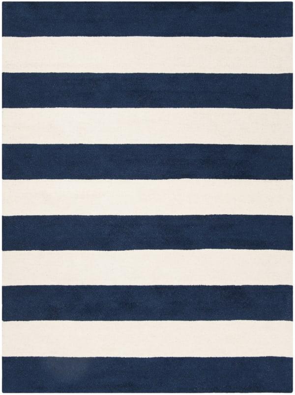 Safavieh Navy Striped  Rug