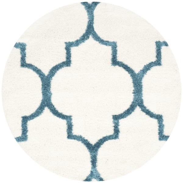 Safavieh Layla Blue & White Quatrefoil Rug