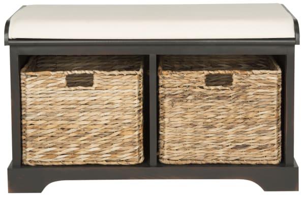Safavieh Lauren Brown Wicker Storage Bench