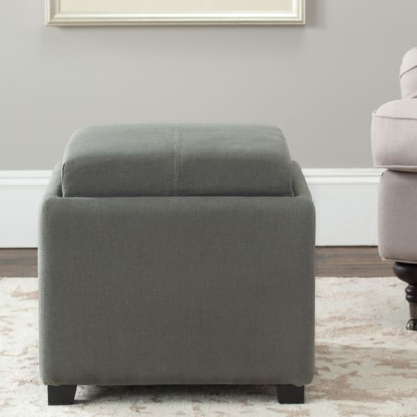 Safavieh Jillian Gray Single Tray Ottoman