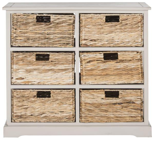 Safavieh Brayden Gray 6 Basket Storage Chest