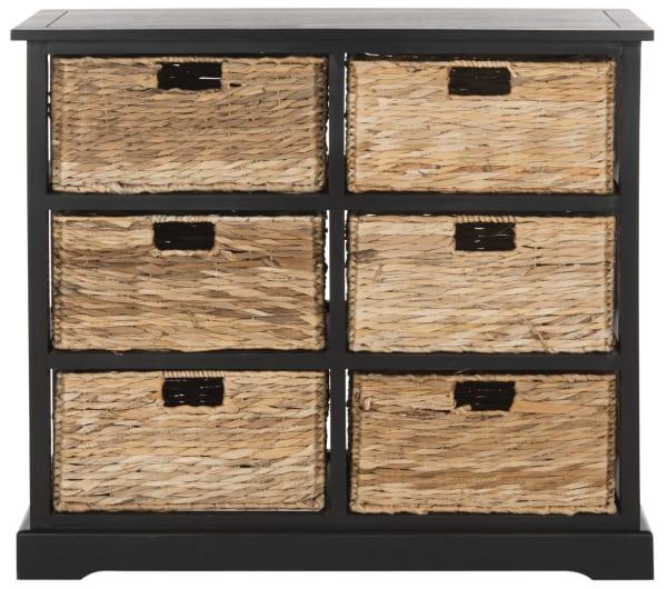 Safavieh Brayden Black 6 Basket Storage Chest