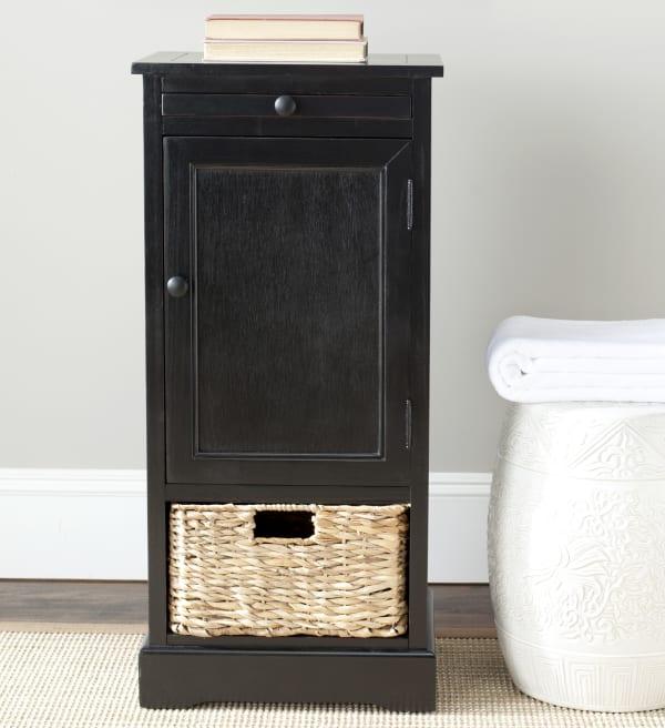 Safavieh Jason Tall Black Storage Cabinet