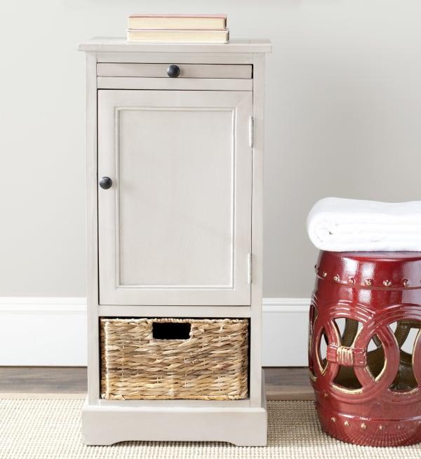Jason Tall Gray Storage Cabinet