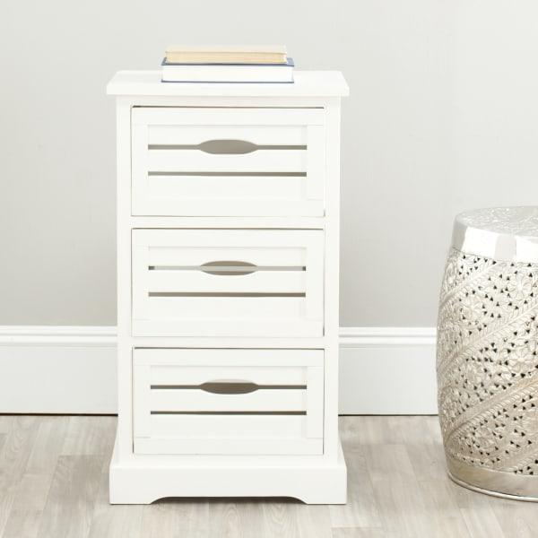 Joshia 3 Drawer Ivory Storage Cabinet