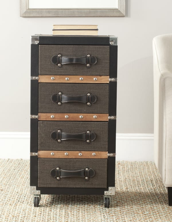 Safavieh Xavier 4-Drawer Rolling Chest