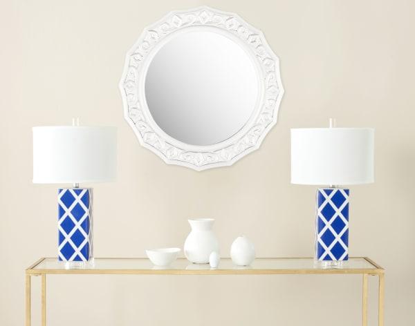 Safavieh Jeremy White Wood & Glass Mirror