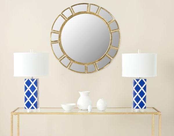 Safavieh Harper Gold Iron & Glass Mirror