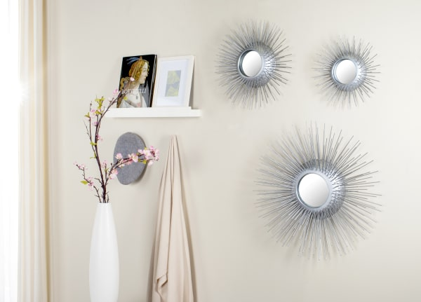 Safavieh Miranda Silver Iron & Glass Mirror Set of 3