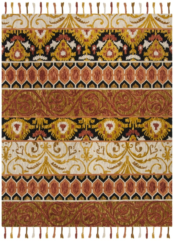 Safavieh Orange Wool Rug