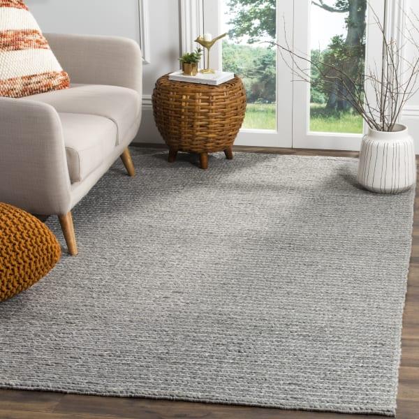 Silver Wool Rug Chipley