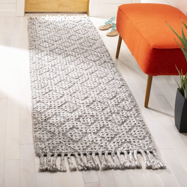 Black Wool Rug