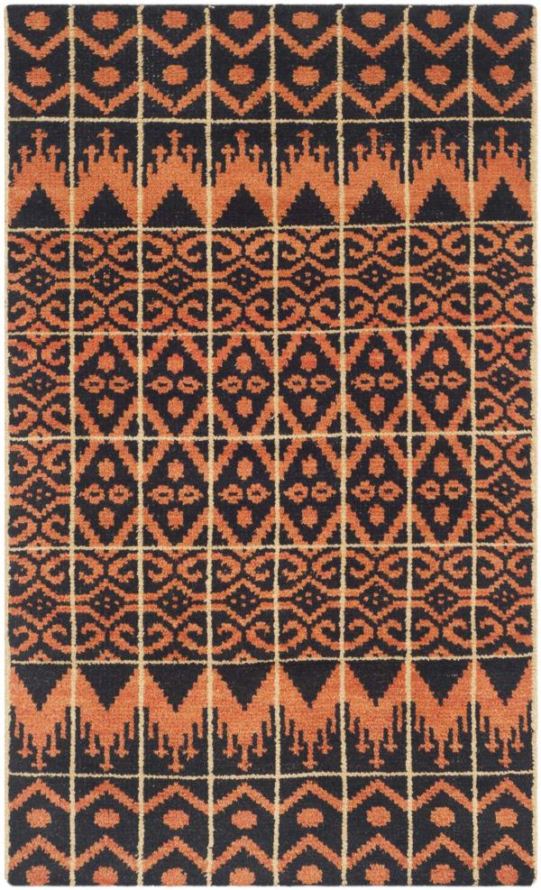 Orange Wool Rug