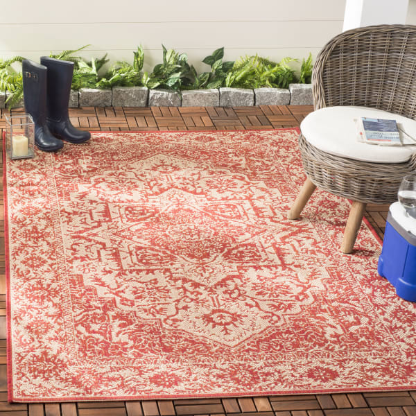Red Polypropylene Rug