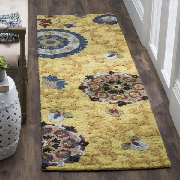 Safavieh Gold Wool Rug
