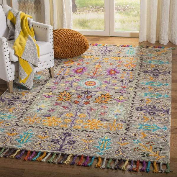 Safavieh Morgan 453 3' X 5' Gray Wool Rug