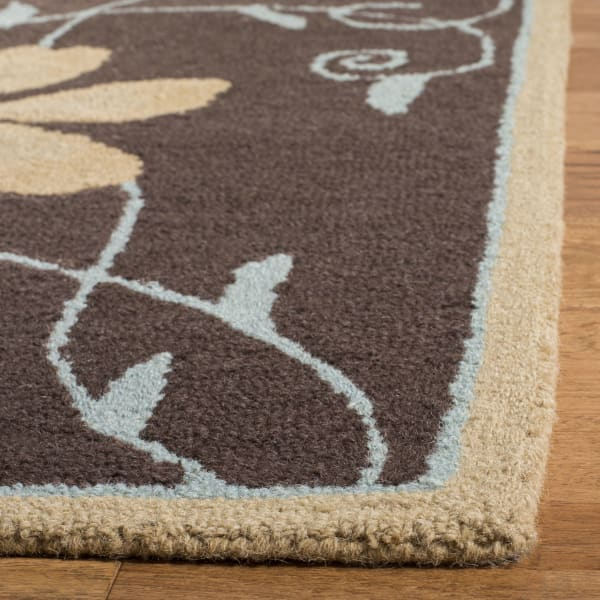 Brown Wool Rug