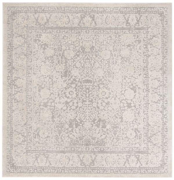 Safavieh Square Gray Polyester Rug 6' x 6'