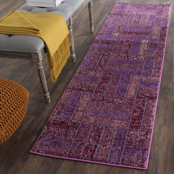 Safavieh Purple Polypropylene Runner  Rug