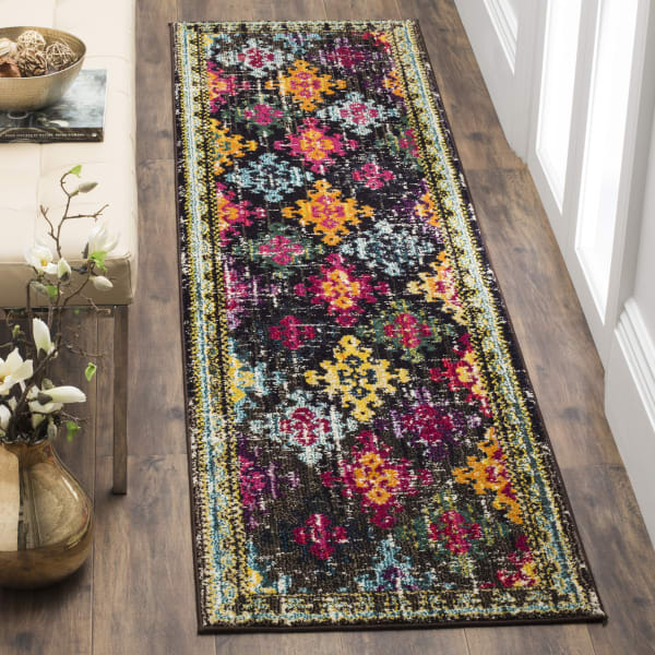 Multicolored Polypropylene Rug