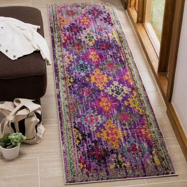 Purple Polypropylene Rug