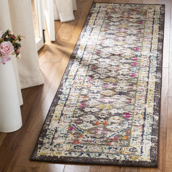 Brown Polypropylene Rug