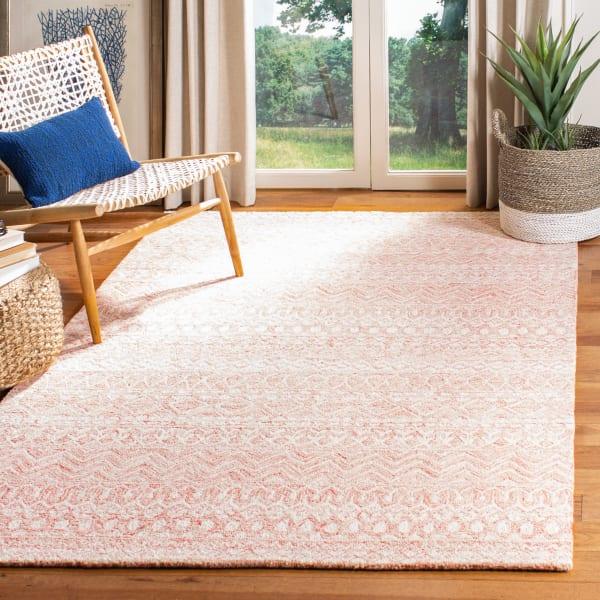 Essence Pink Wool Rug 8' x 10'