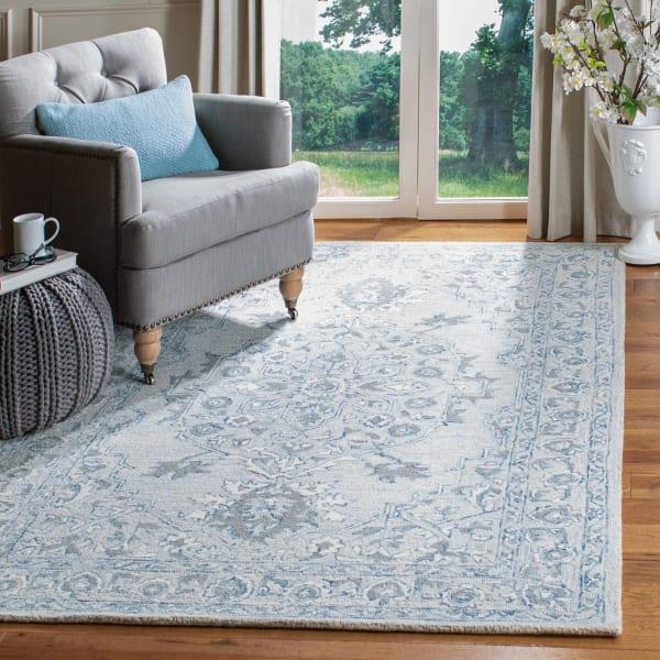 Safavieh Essence Blue Wool Rug 9' x 12'