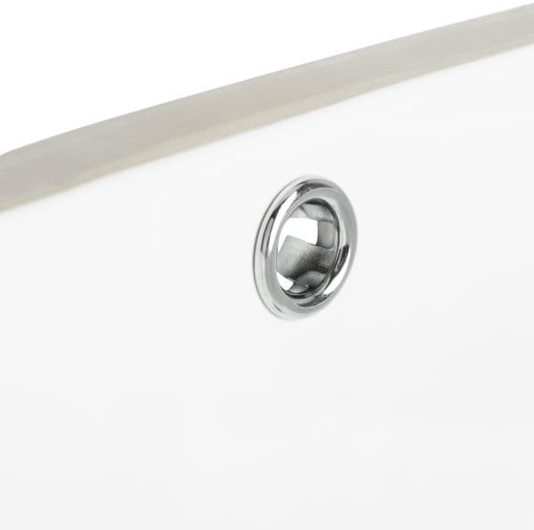 Seaton White Porcelain Ceramic Undermount Bathroom Sink With Overflow Drain