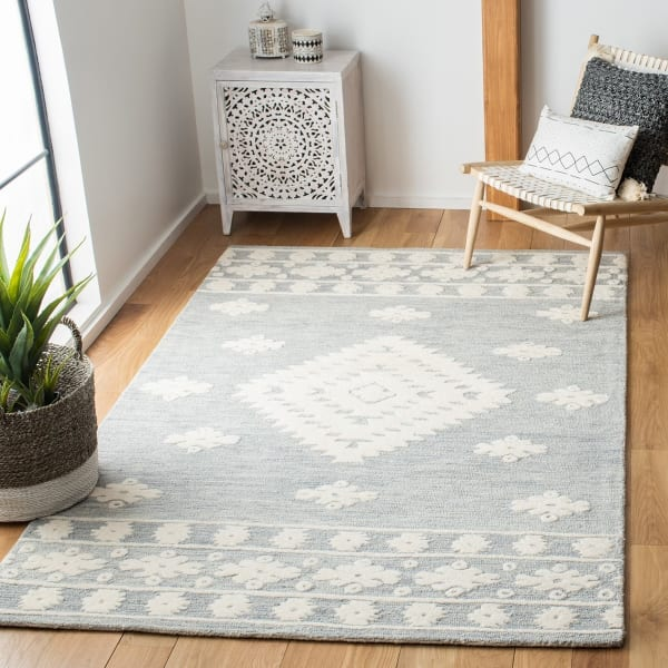 Vail ray & Ivory Wool Rug