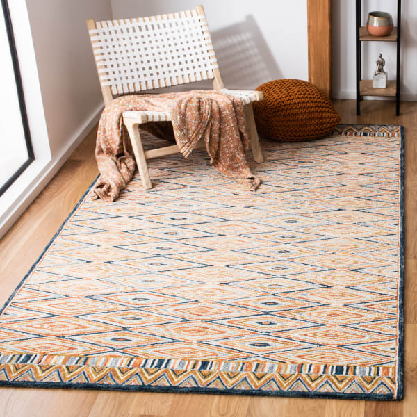 Safavieh Vail Gold & Red Wool Rug